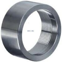"1/4"" 3000# Threaded NPT Half Coupling Coupler A105 Forged Steel Bung <FS090221"