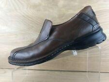 Clarks Mens Brown Leather Slip On Bike Toe Loafer Size 7.5M
