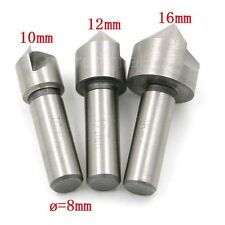 3PCS High-speed Steel HHS 90 Degree Single Edge Chamfering Countersink Set Kit