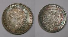 1896 Morgan Dollar Select Bu Gorgeous Blue Green Russt Tone Inv#365-23