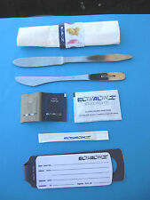ISRAEL EL AL AIRLINES - LOT INFLIGHT KNIVES KIT W/ ORG. ACCESSORIES ! NEW.UNIQUE