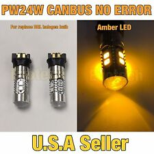 Canbus No Error LED AMBER DRL PW24W For BMW F30 F31 12-16 328i 335i daytime SMD