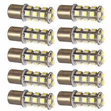 10-Pack HQRP 3W BA15s Base 18 LEDs SMD5050 Bulb for Car Motorcycle Truck Trailer