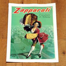ZAPPAROLI poster manifesto affiche Panettone Sweet Milano Duomo Dolce Boccasile