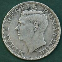 Romania 500 LEI 1944 Silver coin, Mihai I Regele Romanilor, Rare 12 gm