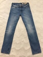 "AllSaints Mens Jeans Iggy Slim Fit Sz 28 Aged Faded Denim Medium Wash 33"" Length"