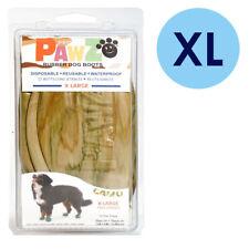 PAWZ Rubber Dog Boots XL Camo 12 Per Pack Disposable Reusable Waterproof Shoes