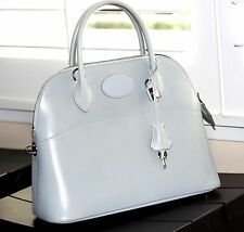 "*****SALE ****+ Auth.  Hermes Leather Bolide Handbag, Gray w/Strap ""E"""