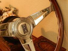 "Rolls Royce Corniche II Wood Steering Wheel Magnolia Horn Button NARDI 15.3"" NEW"