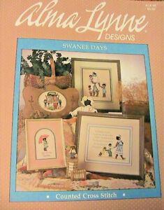 SWANEE DAYS~Alma Lynne 1985~African-American 10 cross stch graphs loose Booklet