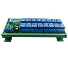 16-Ch 12V 10A DIN Rail Box PLC Expansion Board RS485 Modbus RTU Relay Module