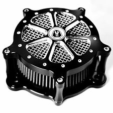 Black Deep Cut Venturi Air Cleaner Intake Filter System For Harley Softail 93-13