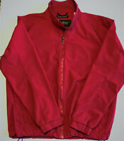 Men's Eddie Bauer Performance Systems Red Windbreaker Jacket Size Large Full Zip