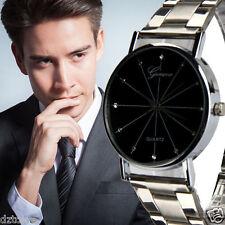 Fashion Luxury Mens Watch Gens Contracted Steel Band Quartz Wrist Watches reloj