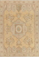Antique Muted Tebriz Traditional Area Rug Wool Hand-Made Home Decor Carpet 6'x9'