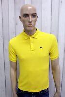LACOSTE Uomo Polo Taglia S Cotone Casual T-shirt Maglietta Maglia Manica Corta