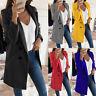 Womens Winter Wool Coat Trench Jacket Ladies Warm Long Parka Overcoat Outwear