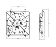A/C Condenser Fan Assembly Right TYC 611130