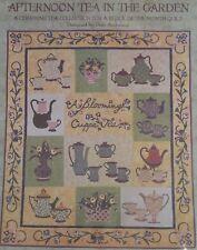 "Quilt Block Month Pattern Set AFTERNOON TEA IN THE GARDEN Debi Anderson 50""x 59"""
