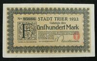Germany Early Banknote 500 Mark 1922