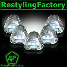 02-15 Dodge RAM TRUCK 1500+2500 5pcs Cab Roof Maker WHITE LED Lights CLEAR Lens