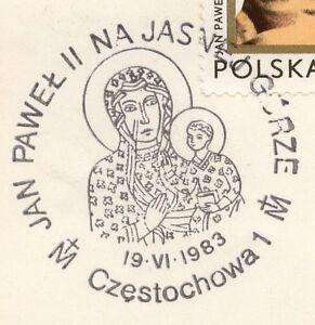 POLAND 1983.06.19 POSTMARK  II Visit, Pope John Paul II