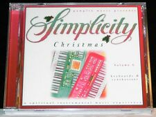 Simplicity Christmas Vol 6 Keyboards Synthesizer cd NEW