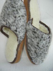 WARME Hausschuhe Pantolette Gr.39, SCHURWOLLE+kuschelig (Made in Poland 40)