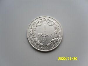 BELGIUM - SILVER 1 FRANC 1911