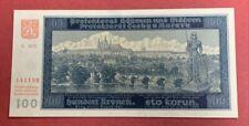 BOHEMIA-MOROVIA NOTE 1940   100 KORUN  CHARLES BRIDGE UNC