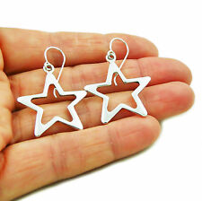 Celestial Star 925 Sterling Silver Drop Earrings