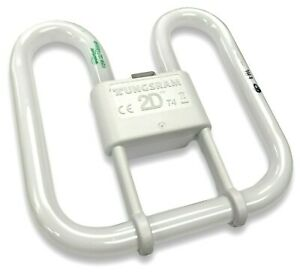 Tungsram 2D Lamp - 21w 4 Pin GR10q 3500K Standard White Bulb for WC Bathroom +