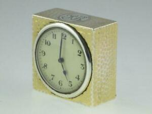Antique English Solid Silver Carriage Clock 1905 London