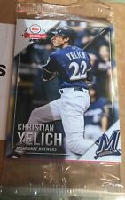 2019 Topps National Baseball Card Day Milwaukee Brewers Unopened Pack Yelich