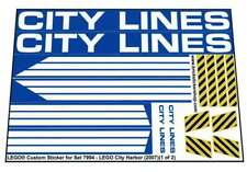 Lego® Custom Pre-Cut Sticker for City Harbor set 7994 - LEGO City Harbor (2007)