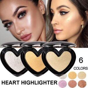 Women Highlighter Face Bronzer Shimmer Contour Eyeshadow Powder Cosmetics New