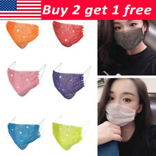 Women's Face Mask Face Cover Beautiful For Girl Crystal Bling Rhinestone
