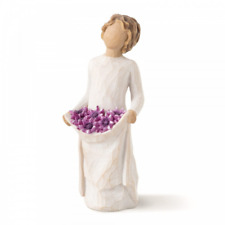 Willow Tree Simple Joys 27242 Woman Purple Flowers Figurine Brand New & Boxed