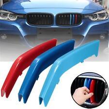 M-Tech 8 Lamas de riñón Grille 3 Color clips de cubierta BMW 3 Series F30 F31 2013-2016