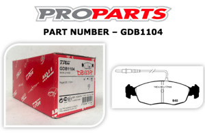 PEUGEOT 306 1993-2001 ALL ENGINES WITH ABS FRONT BRAKE PADS - GDB1104