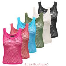 Camisas y tops de mujer Camiseta corta 100% algodón sin mangas