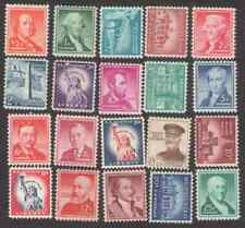 US. 1030 - 1040, 1042, 1042A, 1044 - 1048. Liberty Issue. Lot of 20. MNH