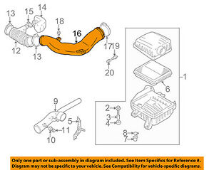 SUZUKI OEM 99-05 Grand Vitara Air Cleaner Intake-Inlet Duct Tube Hose 1383067D00