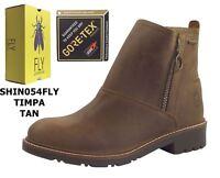 Fly London SHIN054FLY Tan Timpa Brown Crazyhorse Goretex Waterproof Boots