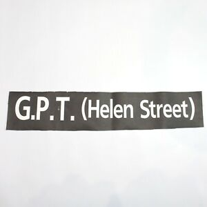 GPT Helen Street Bus blind destination vintage printed West Midlands 1994