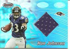 2002 Bowmans Best Ron Johnson Player Worn Jersey Football Card #115