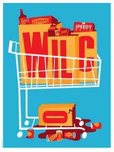 Wilco Gig Poster, Bend 2015 (Original Silkscreen) 18 x 24' Print