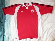 Canada rare football shirt soccer jersey Adidas large red