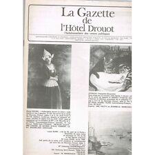 La GAZETTE de l'Hôtel DROUOT 1983 N°19 ORFEVRERIE XVIIIè RODIN CARABIN Art ANTIQ