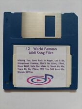 12 X World Famous MIDI Songs Files on  3.5 2DD Floppy Disk